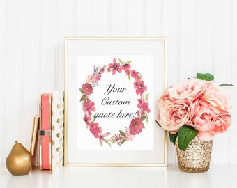 Pink Wreath - Custom Quote Order