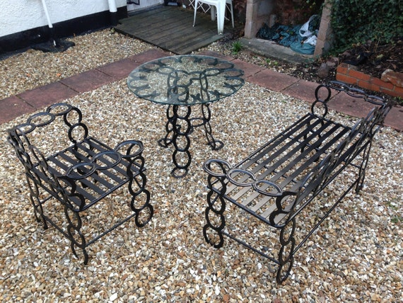 Items similar to 3 peice garden furniture set made out of for Outdoor furniture 2nd hand