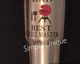 Yeti Decal, Dad, Best Grillmaster Yeti/Tumbler Decal, BBQ, Grill