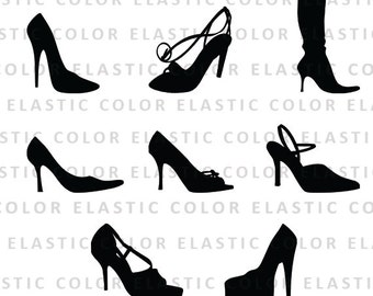 High heels svg - high heels clipart - shoes vector files clip art - heel silhouette digital download svg, png, dxf, eps