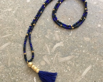 Moody Blues necklace with silk tassel.