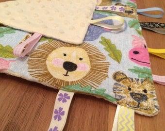 Safari Sensory Tag Blanket