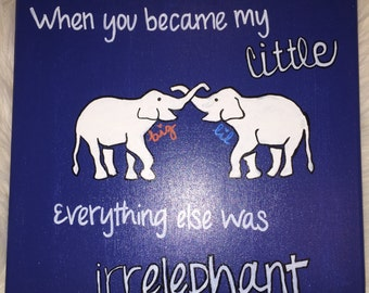 Big and Little irrELEPHANT canvas