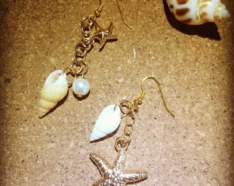 Shell earrings happy summer