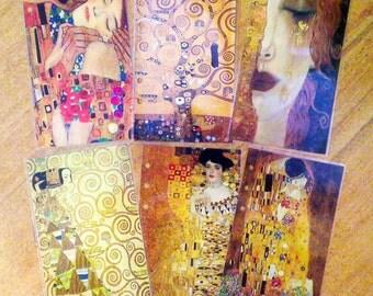 Gustav Klimt dividers for personal planner