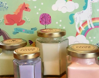 Set of 4 Handmade Scented Candle Jars