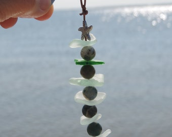 Sea Glass Key Chain