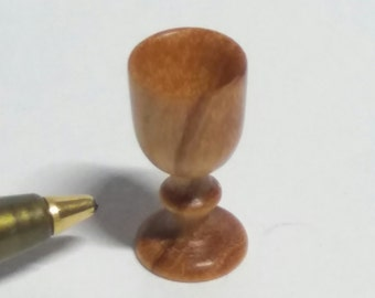 Miniature Dolls House Olive Wood Goblet