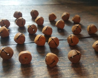 Primitive 10mm Rusty Jingle Bells (Set of 50)