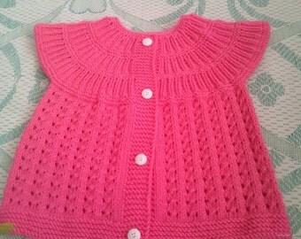 yarn knitting waistcoat for baby