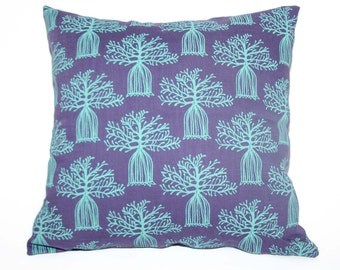 Boabab Turqouise/Purple Scatter Cushion Cover