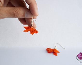 Fish earrings, sea, blue earrings, tents earrings
