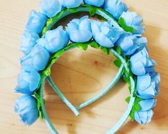 Blue rose hairband