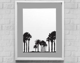 Palm Tree Instant Download Wall Art 8x10/11x14