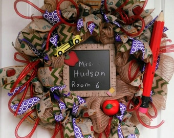 Teacher's Back To School Wreath/SOLD No Longer available
