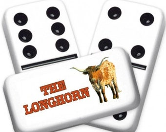 The Longhorn Custom Personalized Dominoes Set