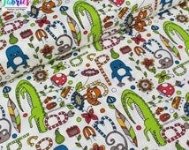 ORGANIC COTTON by Birch Fabrics - Alphabet Soup from Picnic Whimsy Collection - Sold by the Fat Quarter - UK Seller