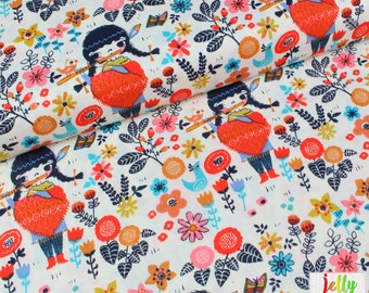 30% OFF - ORGANIC Cotton - Windsong from Wildland Collection by Birch Fabrics - UK Seller