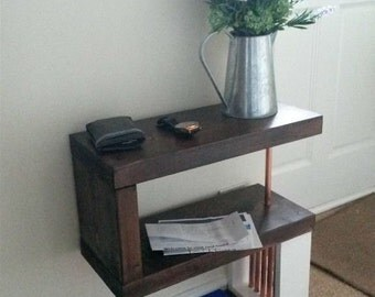 Handmade wood 'S' Side Table
