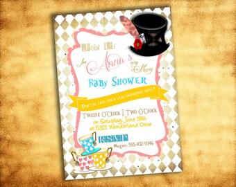 Printable Mad Hatter Tea Party Birthday/Baby/Bridal Shower Invitation