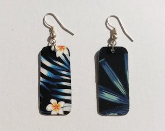 Handmade earrings flower retro 2