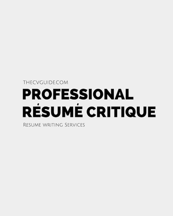 professional resume critique service package by thecvguide