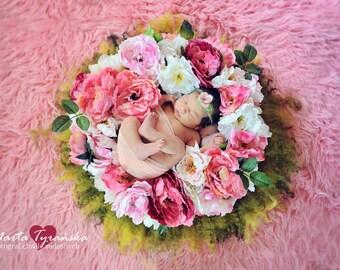 flower wreath photo prop