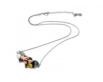 Double Heart Necklace with your Photo