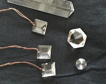 Antique Chandelier Crystals