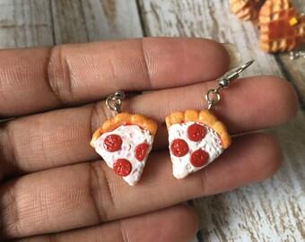 Pizza Dangle Earrings