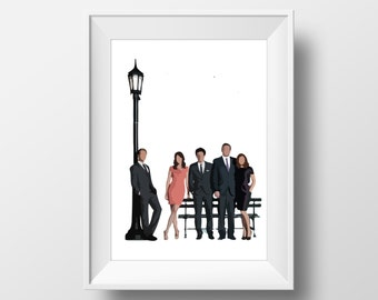 Wall Art Print How I Met Your Mother tv show,printable art,HIMYM theme ,Marshal,Lily,Ted,Barney,Robin,sitcom,maclaren's,himym poster print