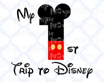 1st Trip to Disney Mickey SVG,EPS,PNG,Studio
