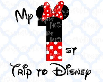 1st Trip to Disney Minnie SVG,EPS,PNG,Studio
