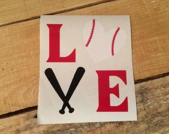 Baseball love decal