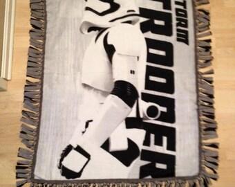 Star Wars Storm Trooper No Sew Fleece Blanket