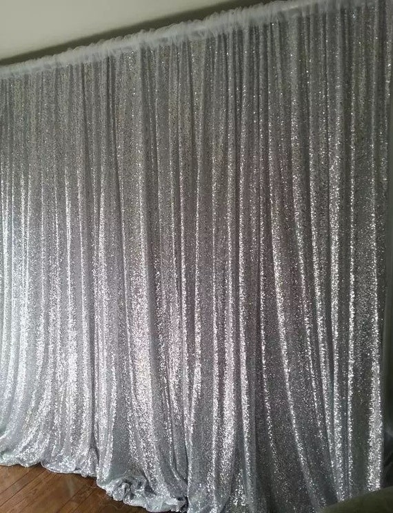 8x8 Ft Silver Gold Black Sequin Photo Backdrop Sequin By 8mermaids