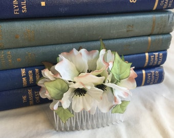 Dogwood Blossoms & Ivy Hair Comb