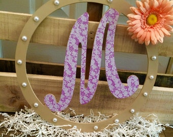 Spring and Pearls Monogram