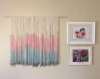 Nursery yarn wall hanging