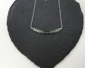 Sterling Silver Moss Aquamarine Necklace - can be personalised, perfect for Bridesmaids!