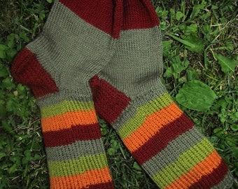 knitted warm socks handmade
