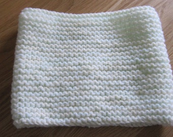 Hand Knitted Mint Green Snood