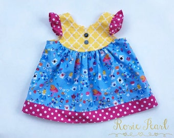 Alice in Wonderland ~ Rosie Pearl Boutique ~ 12-18 months Tunic Top ~ Toddler Baby Girl Mad Hatter White Rabbit Birthday Party