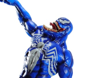 Venom Spider-Man 1/6 scale painted figure (blue) hand painted 12 inch figure