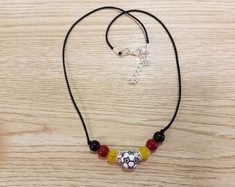 Handmade Germany Soccer Necklace