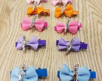 10 Pairs (20 pcs) Ballet Hair Bows Party Favors