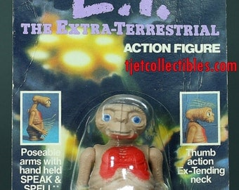 ET The Extra-Terrestrial Action Figure with Speak & Spell Ljn 1982 MOC