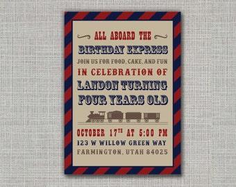 Train Invitation / Train Party / Train Birthday