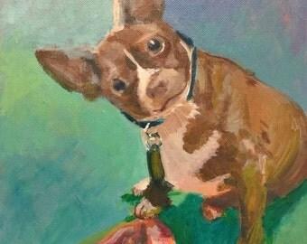 "9""x12"" Custom Acrylic Single Pet Portrait"