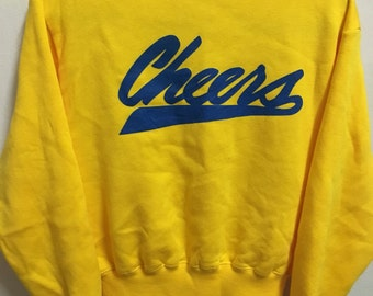 Vintage 90's Cheers Sport Classic Design Skate Sweat Shirt Sweater Varsity Jacket Size L #A317